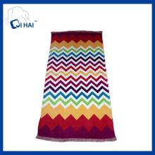 Printed Cotton Tassels Beach Towel (QHB7745)