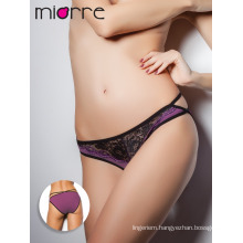 Miorre OEM New 2017 Season Women's Fashionable Cotton Transparent Embroidery Detail Sexy Slip Panty