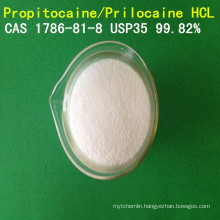 USP High Purity Propitocaine Hydrochloride/ Prilocaine Hydrochloride/Prilocaine HCl CAS 1786-81-8 Local Anesthetic API