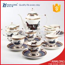 Les tasses à café de Royal Style Bone China pour 6 personnes ont un beau design