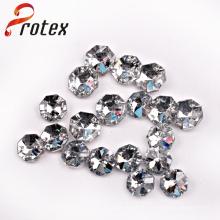 Perles de couture en acrylique à deux trous, perles acryliques de mode pour accessoires de vêtement