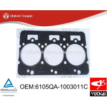 6105QA-1003011C original yuchai YC6105 cylinder head gasket for Chinese truck