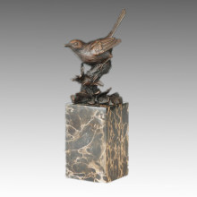 Animal Bronze Sculpture Bird Birdle Carving Decor Brass Statue Tpal-269 (B)