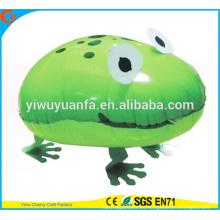 Nuevos Productos Foil Balloon Walking Pet Balloon Toy rana para el regalo de los niños