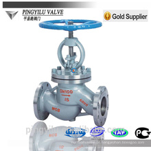 Válvula de globo de aço fundido PN 16-100 válvula de globo de aço inoxidável padrão fabricante válvula de globo manual e motorizada