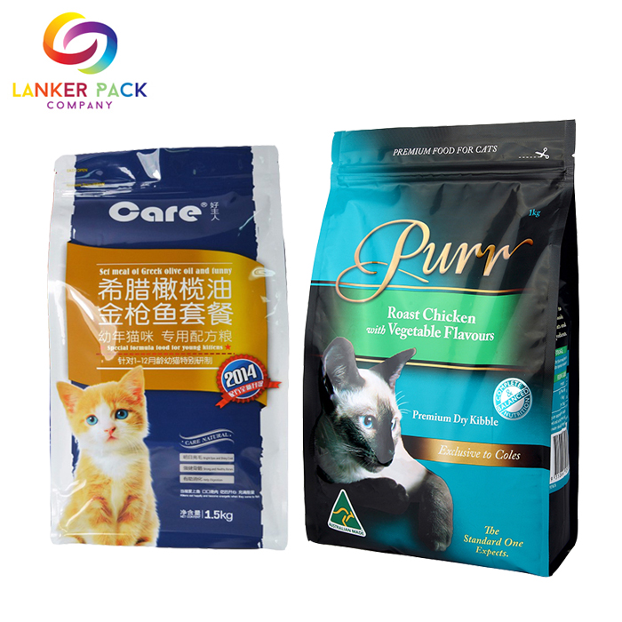 Zipper Quad Seal Pet Plastic Bag