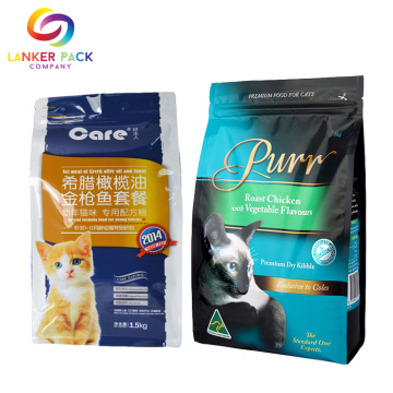 BRC Standard Zipper Quad Seal Pet Plastic Bag