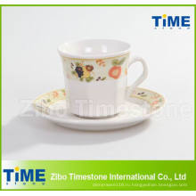 Фарфоровая чашка 200cc и блюдце / чашка кофе с блюдцем (91006-001)