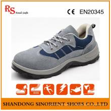 Construção de calçados de segurança de couro genuíno de fabricante