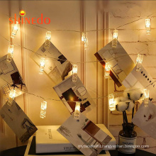 Photo Clips String Lights Battery Operated Holiday Lights with Clips for Home decoration hanging picture