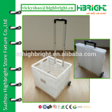 plastic folding shopping trolley,pack n roll cart,large grocery folding shopping cart