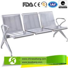 Bancada médica cadeira de espera de assento público com apoio de braço