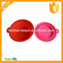 Waterproof Dishwasher Safe Silicone Round Travel Bowl for Pets