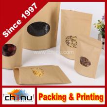 Bolsa de papel personalizada de azúcar de café Kraft Harbour blanco con impresión del cliente (220112)