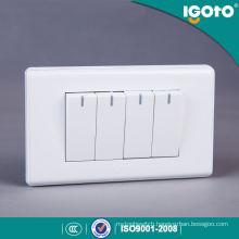 American Style Electrical Application 4 Gang Wall Button and Switches