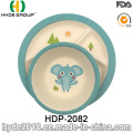 Projeto animais bebê bambu fibra louça define (HDP-2082)