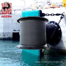 Guardabarros / parachoques de células de caucho marino permitido por el OEM para muelle grande