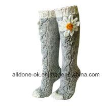Вязаные носки с подогревом