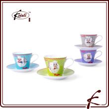 Новые товары Китай Керамические чашки чая и блюдце оптом