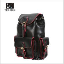 Mochila de cuero de alta calidad, hermosa mochila barata conveniente para adolescentes