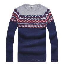 Suéteres de moda de encargo del suéter de la cachemira del suéter de los hombres de encargo