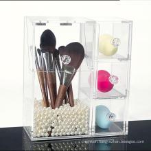 Home Desktop Deco Acrylic Cosmetic Organizer Makeup Display Stand Storage Box Case