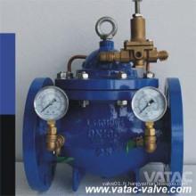 Clapet de commande hydraulique en acier moulé Wcb / Lcb / Wc9 / Ss304 / Ss316