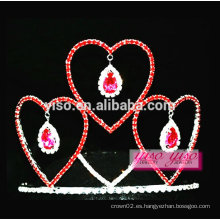 Regalo de la promoción del día de San Valentín tiara barata del desfile de belleza