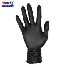 Solong tattoo S/M/L/authorized 100pcs black nitrile sterilized disposable tattoo gloves
