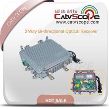 Receptor óptico bidireccional de salida de 2 vías al aire libre con AGC
