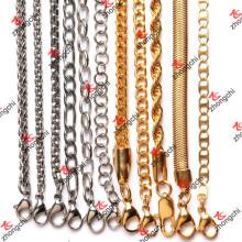 Colar de corrente de bronze personalizado / inoxidável / ferro para acessórios de pingentes (NC132)