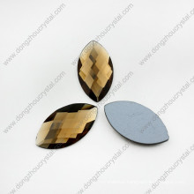 Faceted Colored Decorative Special Horse Eyes Glass Beads for Shoes