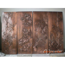 Alibaba wholsale interior casa alívio decorativo bronze metal wall art statue