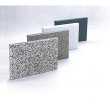 Feuille d'aluminium massif revêtue de pierre pour la bardage