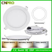 24W cálido color blanco redondeado delgado AC85-265V LED Panel