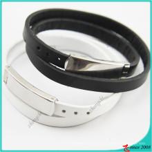Moda jóias china fornecedor couro pulseira com fivela