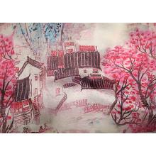 Printing Silk Crepe De Chine Fabric