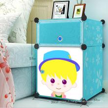 Armoires de rangement en plastique simples pour enfants (ZH0021)