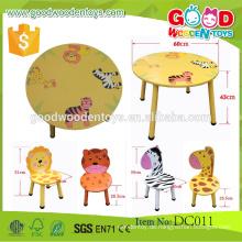 EN71 / ASTM New Design Kindertisch und Stühle Kindergarten Pädagogische Kindermöbel Set zum Verkauf