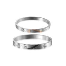 Handmade silver jamaica bangle bracelets, couple love diamond bracelet
