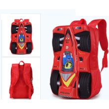 Bolsa de escuela 3D de coches de carreras para estudiantes