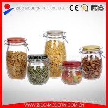 Set 5 Barres à verre bon marché Bulk Airtight Lid Food Square Jar