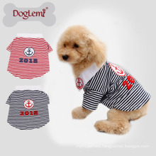 Pet Accessories Wholesale China stripe dog T shirt small dog cloth
