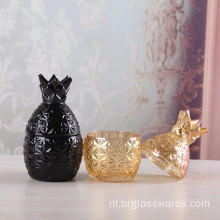 Mini Ananas Shape Glass Candle Jar