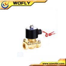 1/4 de polegada 1/8 de polegada dc12v / 24v latão / aço inoxidável válvula de solenóide de água normalmente fechada