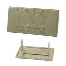 Rectangle Engraved Custom Logo Metal Handbag Tag