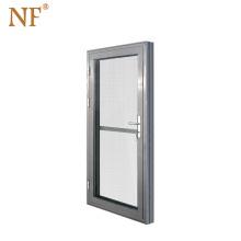 Modern Aluminum Storefront Entrance Door Interior Security Doors Double Tempered Glass Swing Opening Aluminium Alloy Villa Wall