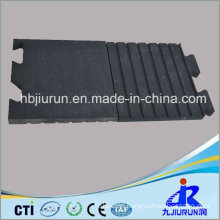 Interlocked Cow Rubber Stable Mat with Qrange Line Pattern