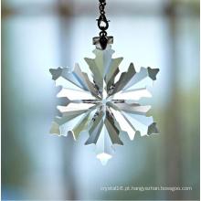 Pingentes de iluminação de cristal artesanal pingentes floco de neve de cristal