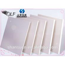 Placa da espuma do PVC para a construção civil, placa da espuma do pvc placa de WPC